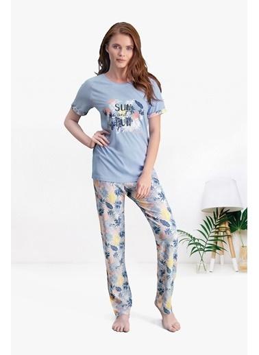 Pierre Cardin Pierre Cardin Mavi Kadın Pijama Takımı Mavi